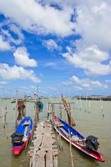 View of fisherman village in south of Thailand