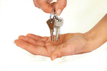 Keys in hands