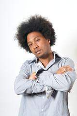 Lay back African American Man