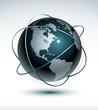 Planète terre communication - orientation usa -