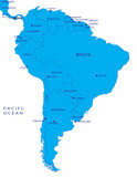 Political map of South America poster