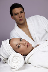 Nice Couple in the Spa