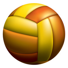 Volleyball ball isolated on white. Vector illustration.