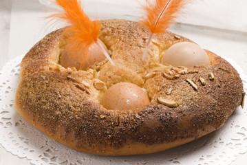 Spanish cuisine. Easter cake.
