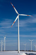 Windkrafträder im Winter