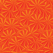 Seamless background with orange floral motives