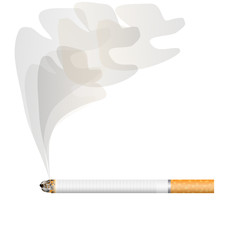 Cigarette with a smoke