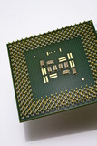 silicone chip CPU  on white background. poster
