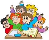 Fototapety Group of school kids