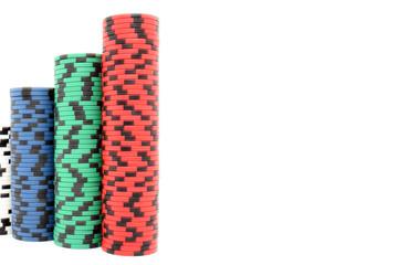 Pokerchips Türme
