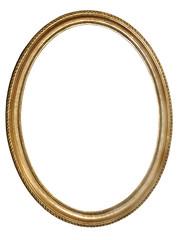vieuxcadre oval doré
