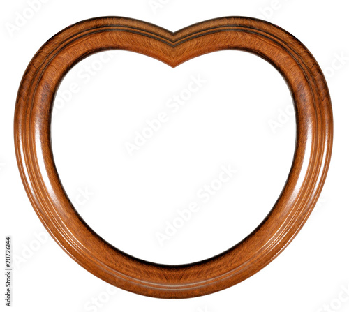 Cadre en bois en forme de coeur photo libre de droits sur la banq - Acheter cadre en ligne ...
