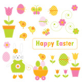 Fototapety Easter elements