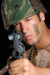 Army Man Pointing Gun