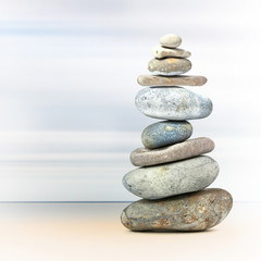 Balance tower of spa rocks