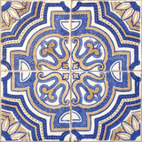 Seamless traditional portuguese building tile