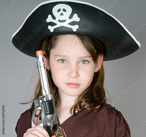 Young pirate girl