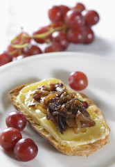 caramelised onion with cheese