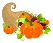 Cornucopia filled with vegetables