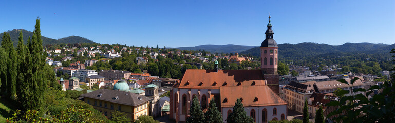 skyline panorama of Baden-Baden