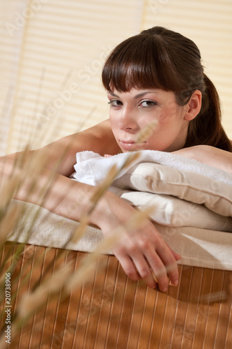 Spa - Young woman at wellness therapy
