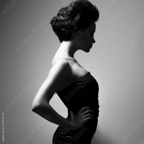 Elegant lady with stylish hairstyle