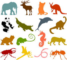 Set of animals icons  - silhouettes 02