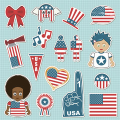 usa supporter stickers
