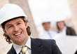 Male engineer smiling