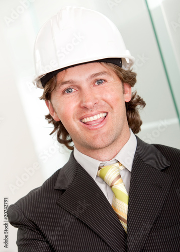Male architect in business suit