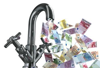 rubinetto banconote euro