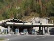 Leinwanddruck Bild - Entrée tunnel sous le Mont Blanc