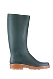 Green rubber boot