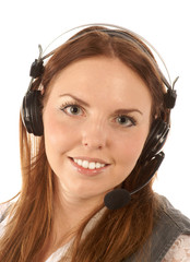 Portrait of hotline operator