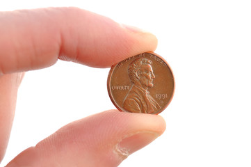Close-up of Lincoln Penny