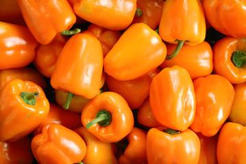 Orange pepper background