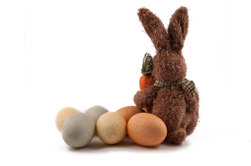 Easter bunny with symbolic eggs