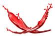red splash on white background