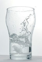 glass with ice-water
