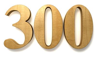 300 wooden celebration anniversary birthday