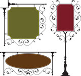 Wrought Iron Signage poster