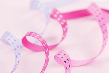 Fiber textured ribbon