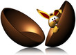 Uovo Cioccolato con Coniglio-Chocolate Egg and Rabbit-2