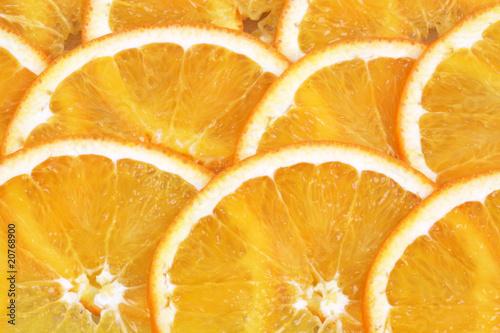 Fotobehang Plakjes fruit Orange in Scheiben