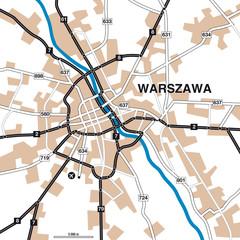 Stadtplan/Umgebungskarte Warschau