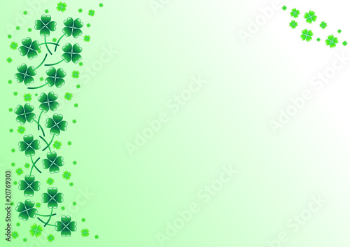 Background with shamrocks for st. Patrick's Day