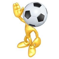 Mini Gold Guy Soccer Football