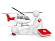 Unfallhilfe mit Hubschrauber