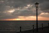 Sunset seen from dutch boulevard poster
