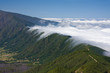 Clouds tumbling over a mountain ridge Canary Islands